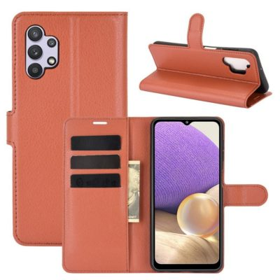 Samsung Galaxy A32 5G Kotelo PU-Nahka Ruskea