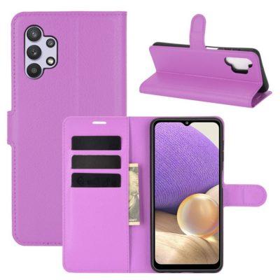 Samsung Galaxy A32 5G Kotelo PU-Nahka Violetti