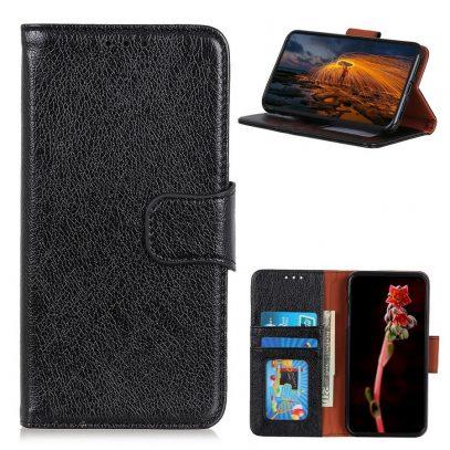 Samsung Galaxy A52 5G Nahkakotelo Musta