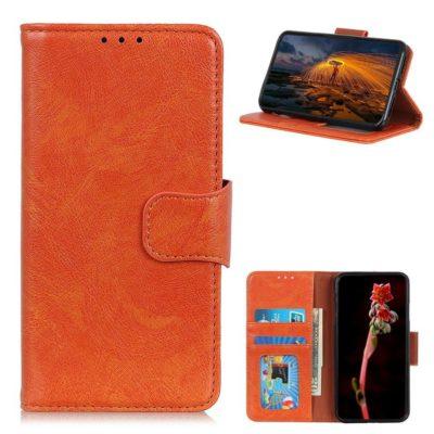 Samsung Galaxy A52 / A52 5G Nahkakotelo Oranssi