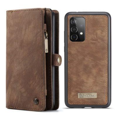 Samsung Galaxy A52 / A52 5G Lompakko Caseme Ruskea