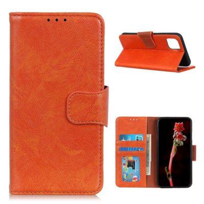 Xiaomi Mi 11 Suojakotelo Oranssi Nahka