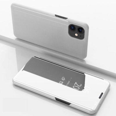 Apple iPhone 12 / 12 Pro Kotelo Peilipinta Hopea