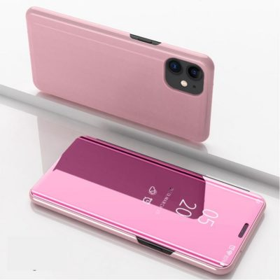 Apple iPhone 12 / 12 Pro Kotelo Peilipinta Ruusukulta