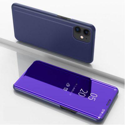 Apple iPhone 12 / 12 Pro Kotelo Peilipinta Tummansininen