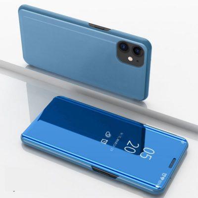 Apple iPhone 12 / 12 Pro Kotelo Peilipinta Vaaleansininen