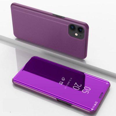 Apple iPhone 12 / 12 Pro Kotelo Peilipinta Violetti