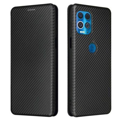 Motorola Moto G100 5G Suojakotelo Hiilikuitu Musta