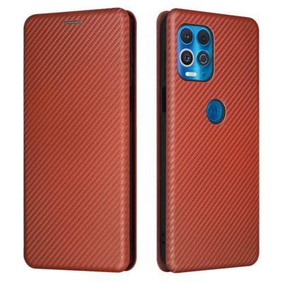Motorola Moto G100 5G Suojakotelo Hiilikuitu Punainen
