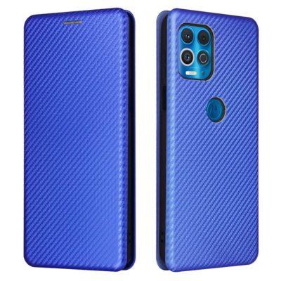 Motorola Moto G100 5G Suojakotelo Hiilikuitu Sininen