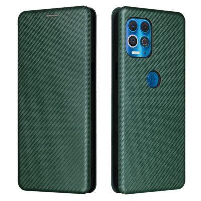 Motorola Moto G100 5G Suojakotelo Hiilikuitu Vihreä
