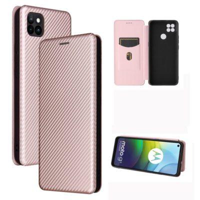 Motorola Moto G9 Power Kotelo Hiilikuitu Ruusukulta