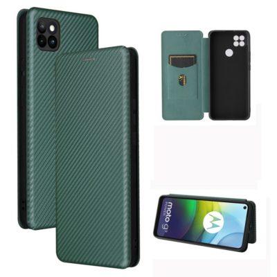Motorola Moto G9 Power Kotelo Hiilikuitu Vihreä