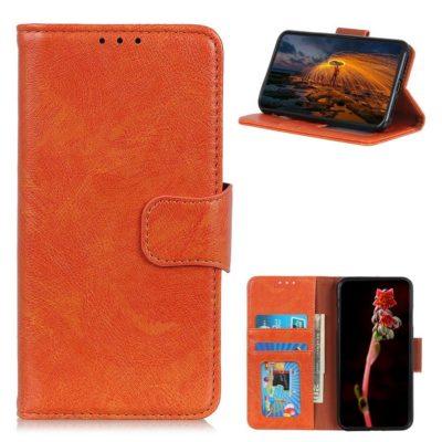 Nokia 2.4 Lompakko Suojakotelo Oranssi Nahka