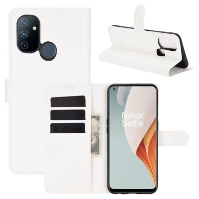 OnePlus Nord N100 Suojakotelo Valkoinen Lompakko