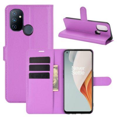 OnePlus Nord N100 Suojakotelo Violetti Lompakko