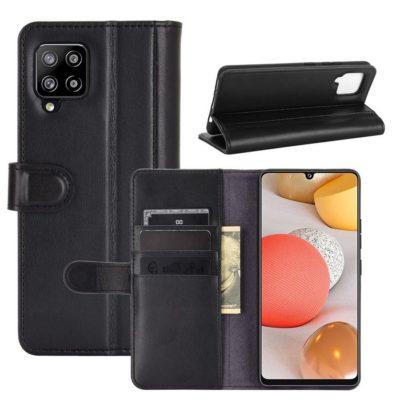 Samsung Galaxy A42 5G Nahkakotelo Musta