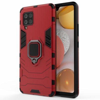 Samsung Galaxy A42 5G Sormus Suojakuori Punainen