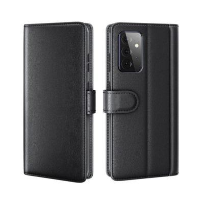 Samsung Galaxy A72 Nahkakotelo Musta