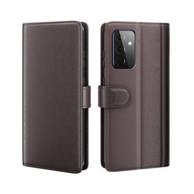 Samsung Galaxy A72 Nahkakotelo Tummanruskea