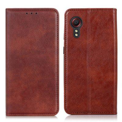 Samsung Galaxy Xcover 5 Kannellinen Kotelo Ruskea