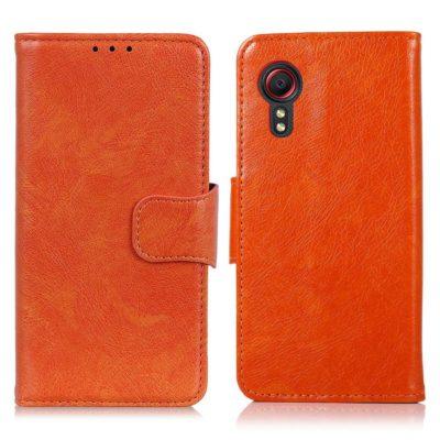Samsung Galaxy Xcover 5 Nahkakotelo Oranssi