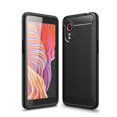 Samsung Galaxy Xcover 5 Suojakuori Hiilikuitu Musta
