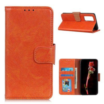 Xiaomi Mi 10T 5G / Mi 10T Pro 5G Nahkakotelo Oranssi