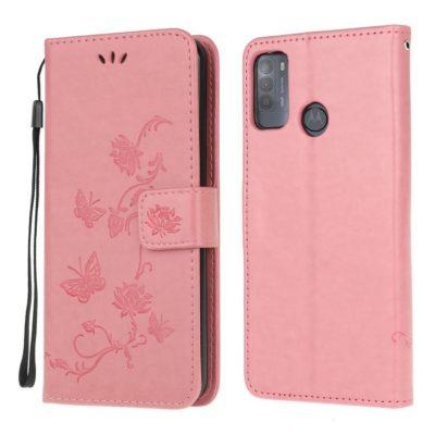 Motorola Moto G50 5G Kotelo Kukka Vaaleanpunainen