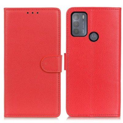 Motorola Moto G50 5G Kotelo Punainen Lompakko
