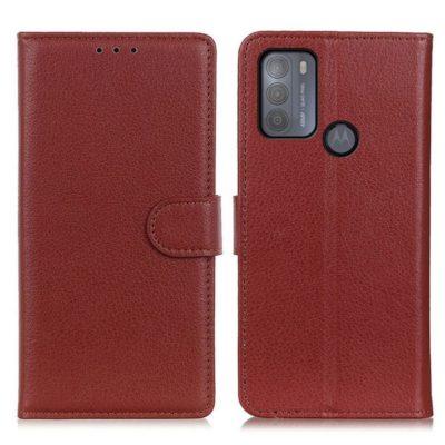 Motorola Moto G50 5G Kotelo Ruskea Lompakko