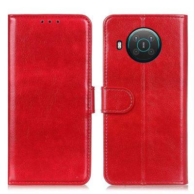 Nokia X20 5G Lompakko Suojakotelo Punainen