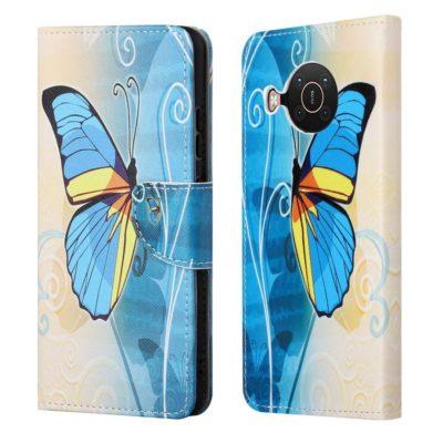Nokia X20 5G Lompakkokotelo Perhonen 1