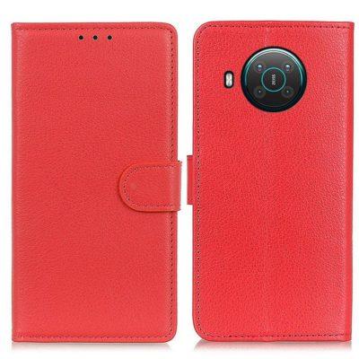Nokia X20 5G Suojakotelo Punainen Lompakko