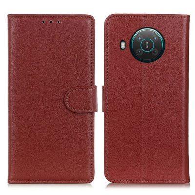 Nokia X20 5G Suojakotelo Ruskea Lompakko