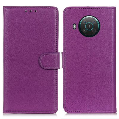 Nokia X20 5G Suojakotelo Violetti Lompakko
