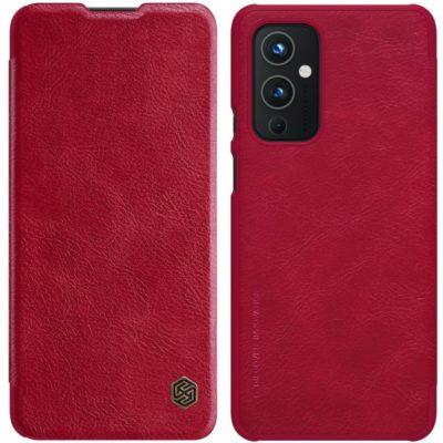 OnePlus 9 Suojakotelo Nillkin Qin Punainen