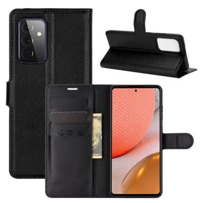 Samsung Galaxy A72 Kotelo PU-Nahka Musta