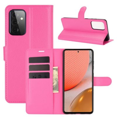 Samsung Galaxy A72 Kotelo PU-Nahka Pinkki