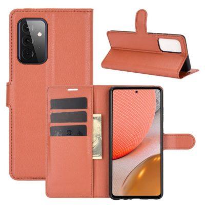Samsung Galaxy A72 Kotelo PU-Nahka Ruskea