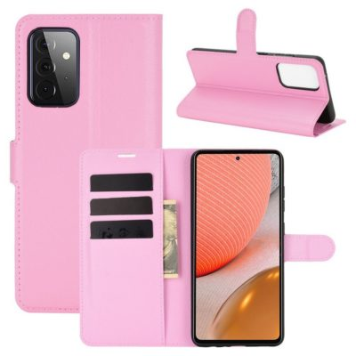 Samsung Galaxy A72 Kotelo PU-Nahka Vaaleanpunainen