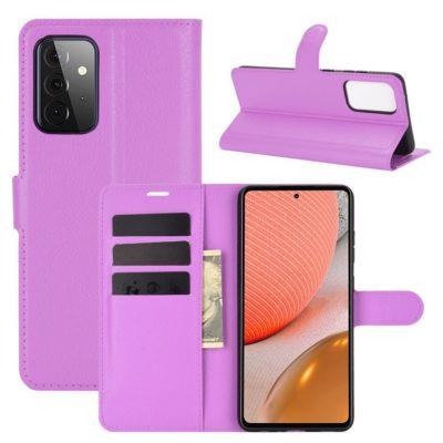 Samsung Galaxy A72 Kotelo PU-Nahka Violetti