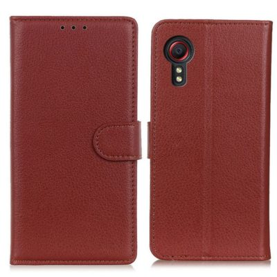 Samsung Galaxy Xcover 5 Lompakkokotelo Ruskea