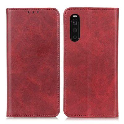 Sony Xperia 10 III Kannellinen Suojakotelo Punainen