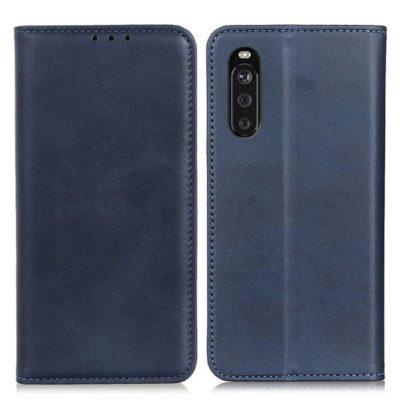 Sony Xperia 10 III Kannellinen Suojakotelo Sininen