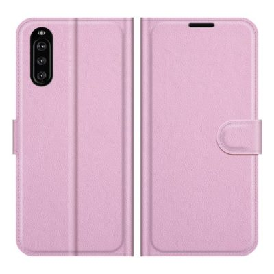 Sony Xperia 10 III Kotelo PU-Nahka Vaaleanpunainen
