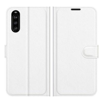 Sony Xperia 10 III Kotelo PU-Nahka Valkoinen