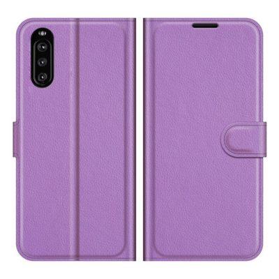 Sony Xperia 10 III Kotelo PU-Nahka Violetti