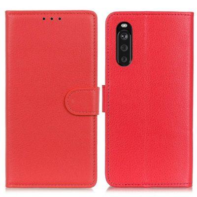Sony Xperia 10 III Lompakko Suojakotelo Punainen