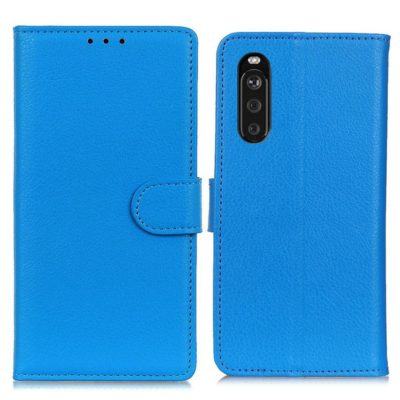 Sony Xperia 10 III Lompakko Suojakotelo Sininen